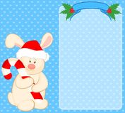 Bunny in the suit of Santa Claus Stock Images