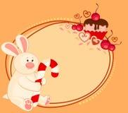 Bunny with sweet cupcake Stock Photo
