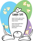 Bunny Text panel Royalty Free Stock Photos