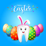 Bunny tooth character Royalty Free Stock Images