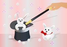 Bunny in the topper, cdr vector Stock Images