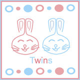 Bunny twins Stock Photography