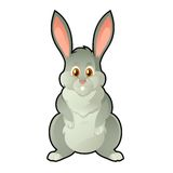 Bunny. Vector image of funny cartoon easter bunny royalty free illustration