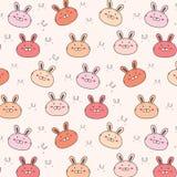 Bunny Vector Pattern Background lindo Doodle divertido libre illustration