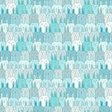 Bunny Vector Pattern Background mignon tiré par la main Griffonnage drôle illustration de vecteur
