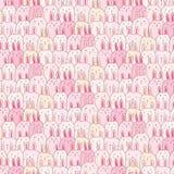 Bunny Vetora Pattern Background bonito tirado mão Garatuja engraçada ilustração royalty free
