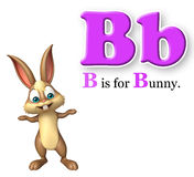 Bunny wild animal with alphabte Royalty Free Stock Images