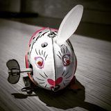 Bunny wind up toy. Vintage Bunny wind up toy Royalty Free Stock Photo