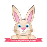 Bunny wishes Happy Easter Royalty Free Stock Photos