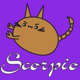 Bunny zodiac sign Scorpio in cartoon style stock illustration