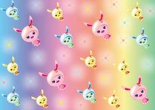 Bunny_Babies_wallpaper Stock Photo
