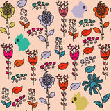 Bunnyes seamless pattern and seamless pattern in swatch menu, ve Royalty Free Stock Photos