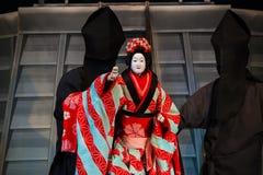 Bunraku (日本木偶戏) 免版税图库摄影