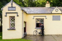 Bunratty,一个地道小村庄在克莱尔郡,爱尔兰 库存图片
