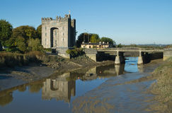 Bunratty castle. In west Ireland with reflection Stock Images