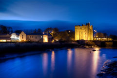 Bunratty castle. In west Ireland at night - HDR Stock Photo
