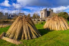 Bunratty castle in Co. Clare. Haystack at Bunratty castle in Co. Clare, Ireland Royalty Free Stock Image