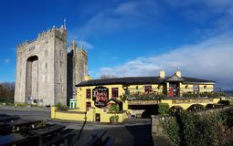 Ireland - Nov 30th 2017: Beautiful view of Ireland`s most famous Castle and Irish Pub in County Clare. royalty free stock image