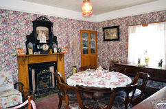 Bunratty Folk Park dining room Stock Photography