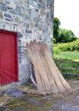 Bunratty Folk Park hay by the barn Stock Photo