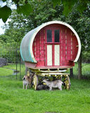 Bunratty Folk Park travelling wagon and goats Royalty Free Stock Photos