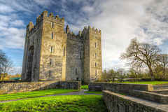 Bunratty Schloss in Co. Clare Lizenzfreies Stockbild