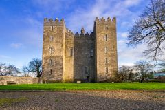 bunratty slott clare co ireland clare Royaltyfria Bilder