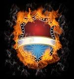 Bunring Weinlese-Emblem Stockfotografie