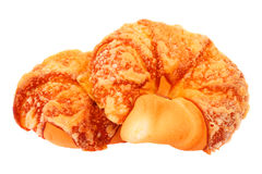Buns. Two mouth-watering buns on a white background Stock Image