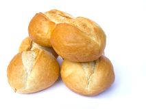 Buns. On the white background stock photography