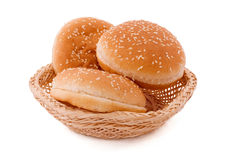 Buns in basket Royalty Free Stock Photography