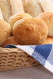 Buns in a basket Royalty Free Stock Photos