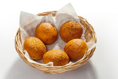 Buns in basket Royalty Free Stock Photo