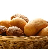 Buns in basket Stock Images