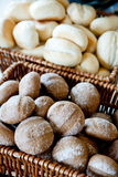 Buns in baskets Royalty Free Stock Images