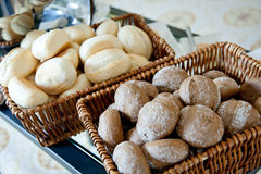 Buns in baskets Royalty Free Stock Photo