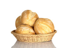 Buns in Bread Basket stock photo