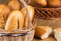 Buns in the bread basket Royalty Free Stock Photo