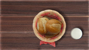 Buns in the breadcrumbs on the table Stock Photography