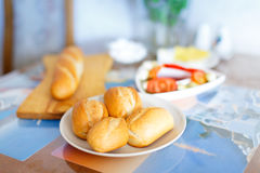 Buns for breakfast Royalty Free Stock Photography