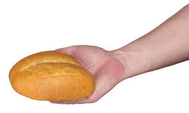 Buns bred in hands Royalty Free Stock Photography