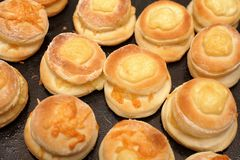 Buns with cheese Royalty Free Stock Images