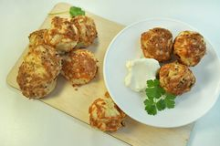 Buns with cheese cookery stock image