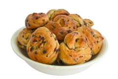 Buns with chocolate Royalty Free Stock Image