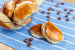 Buns with cottage cheese Stock Image