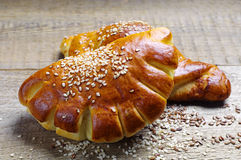 Buns and croissant Royalty Free Stock Images