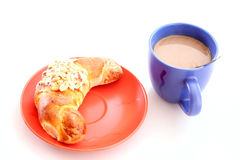 Buns and cup of coffee Royalty Free Stock Photography