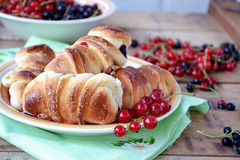Buns with currants. Selective focus Royalty Free Stock Photo
