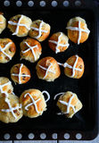 Buns for easter. Top view Stock Image