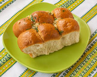 Buns with garlic Royalty Free Stock Image